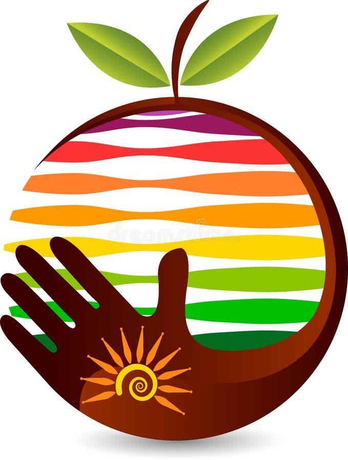 Logotipo del cuidado de la fruta libre illustration