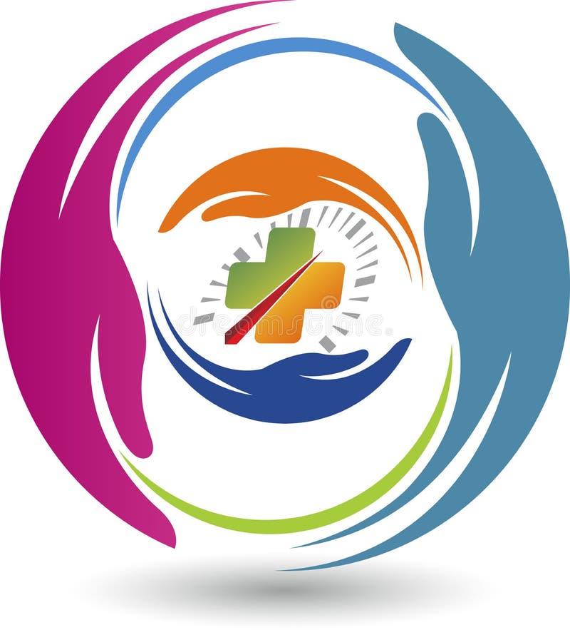 Logotipo del cuidado de la impulsión de la seguridad libre illustration
