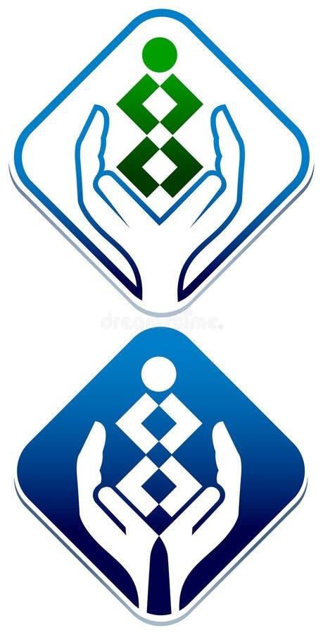 Logotipo del cuidado de niños stock de ilustración