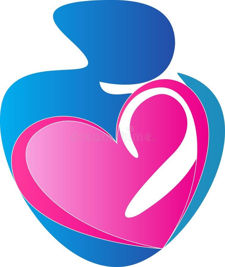 Logotipo del cuidado del bebé ilustración del vector
