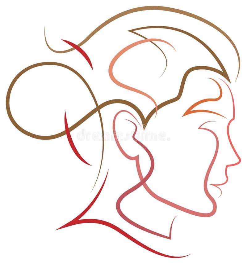 Logotipo del cuidado del cabello libre illustration
