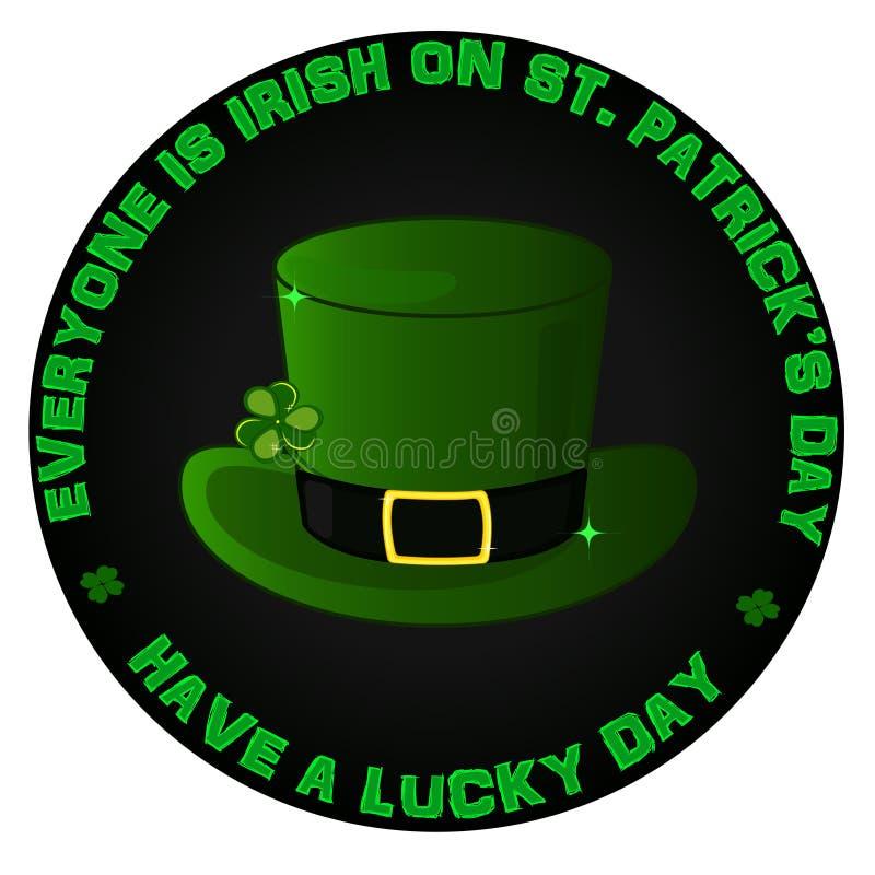 Logotipo del día del ` s de Stpatrick fotos de archivo libres de regalías