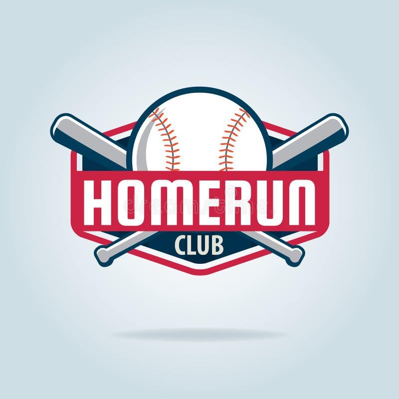 Logotipo del deporte de la insignia del béisbol stock de ilustración