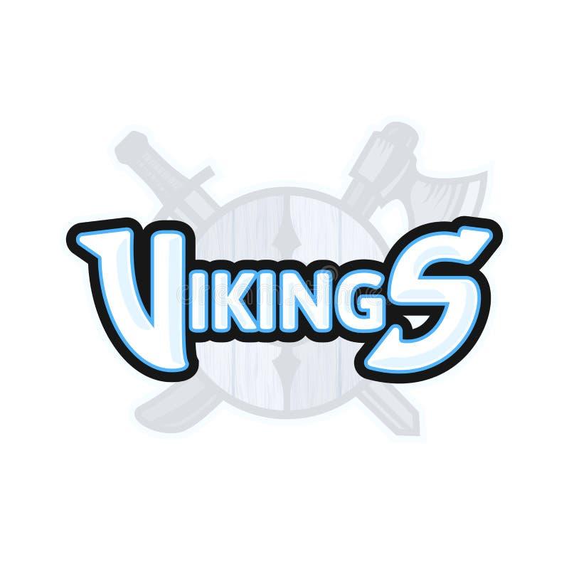 Logotipo del deporte de Vikingos, emblema del vector libre illustration