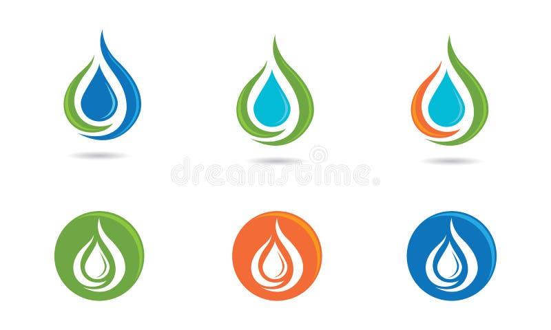 Logotipo del descenso del agua stock de ilustración