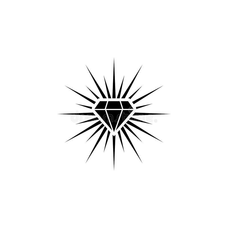 Logotipo del diamante del brillo libre illustration