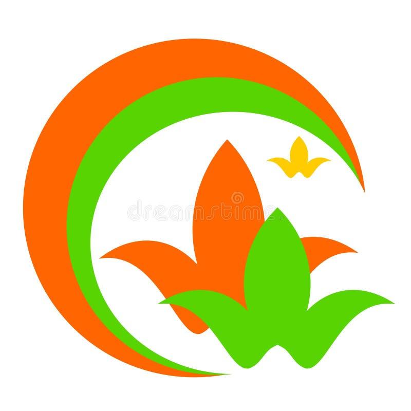 Logotipo del dibujo del vector, colores de la salud ilustración del vector