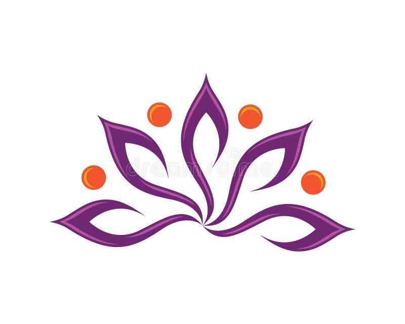 Logotipo del diseño de las flores de Lotus libre illustration
