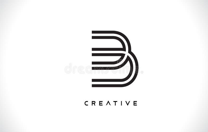 Logotipo del diseño de letra de B con vector minimalista de moda moderno creativo del estilo del monograma libre illustration