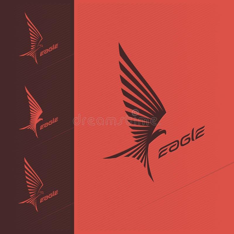 Logotipo del diseño del emblema de Eagle imagen de archivo libre de regalías