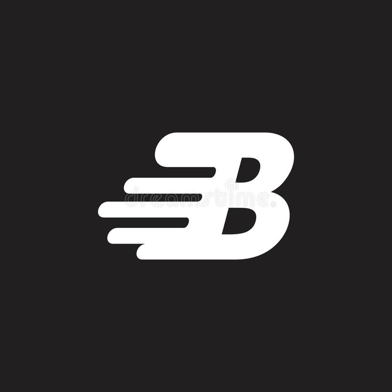 Logotipo del diseño del movimiento rápido de la letra b libre illustration