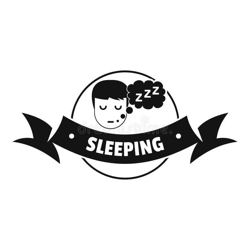 Logotipo del dormitorio el dormir, estilo negro simple ilustración del vector