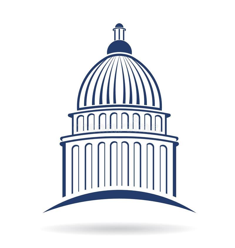 Logotipo del edificio del capitolio stock de ilustración