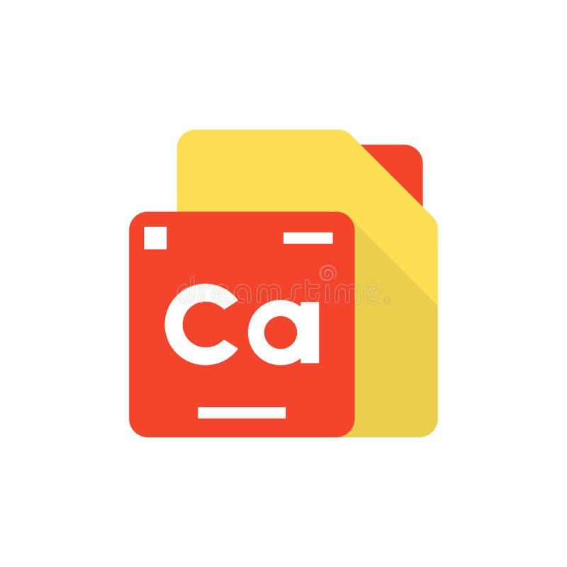 Logotipo del elemento de tabla periódica stock de ilustración