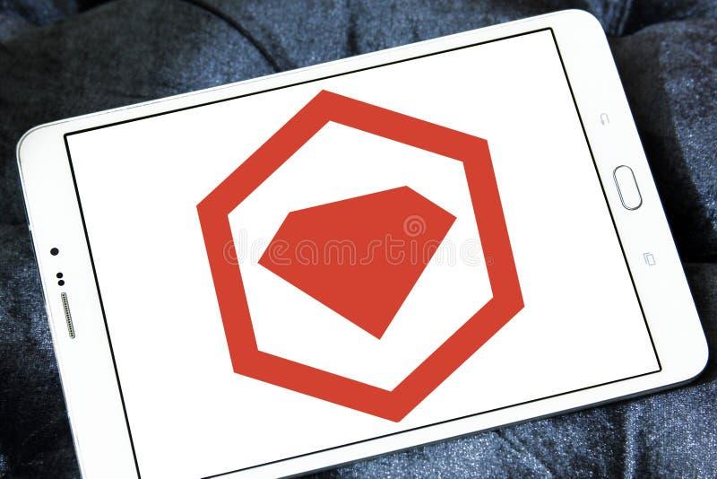 Logotipo del encargado del paquete de RubyGems fotografía de archivo libre de regalías