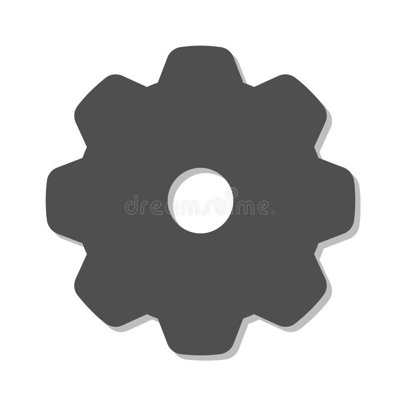 Logotipo del engranaje en un fondo blanco ilustración del vector