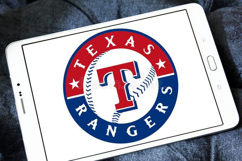 Logotipo del equipo de béisbol de Texas Rangers imagenes de archivo