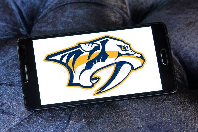 Logotipo del equipo de hockey del hielo de los depredadores de Nashville fotografía de archivo libre de regalías
