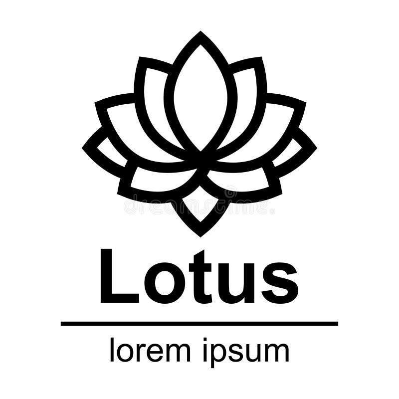 Logotipo del esquema del loto de la historieta libre illustration