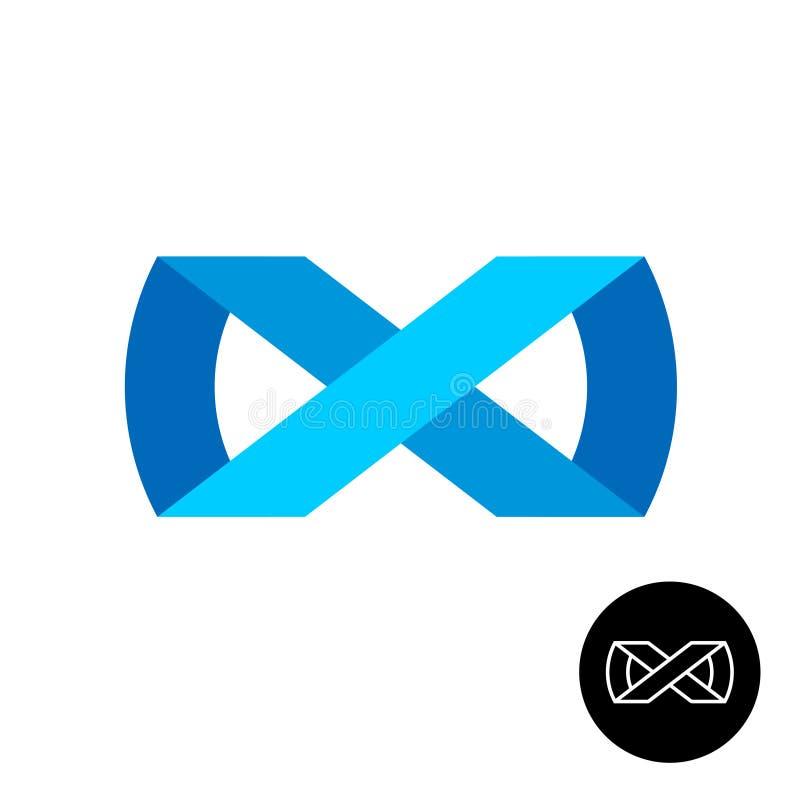 Logotipo del estilo de la cinta del infinito stock de ilustración