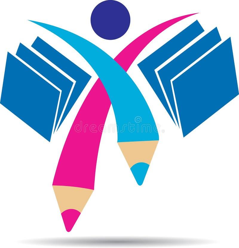 Logotipo del estudiante stock de ilustración