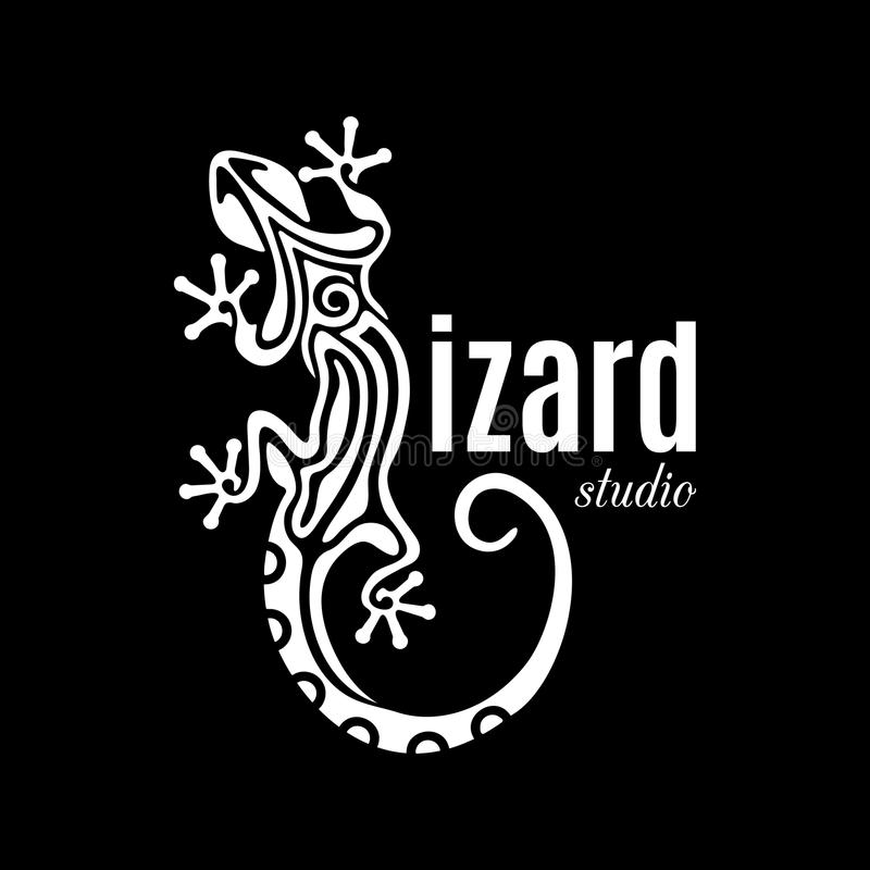 Logotipo del estudio del lagarto libre illustration