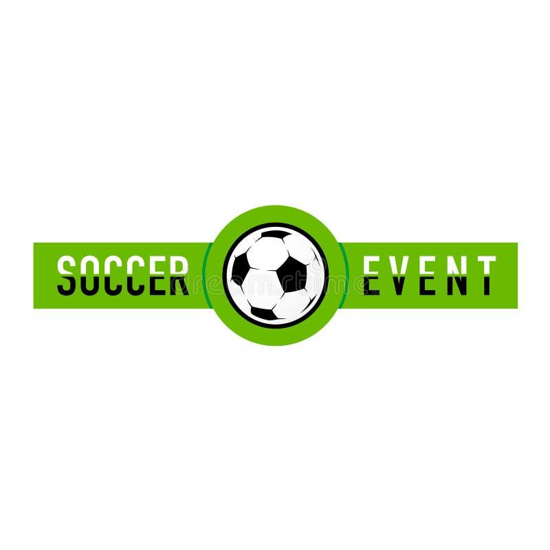 Logotipo del evento del fútbol stock de ilustración