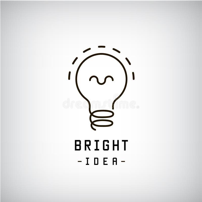 Logotipo del extracto de la bombilla del vector Idea, concepto del negocio del intercambio de ideas libre illustration