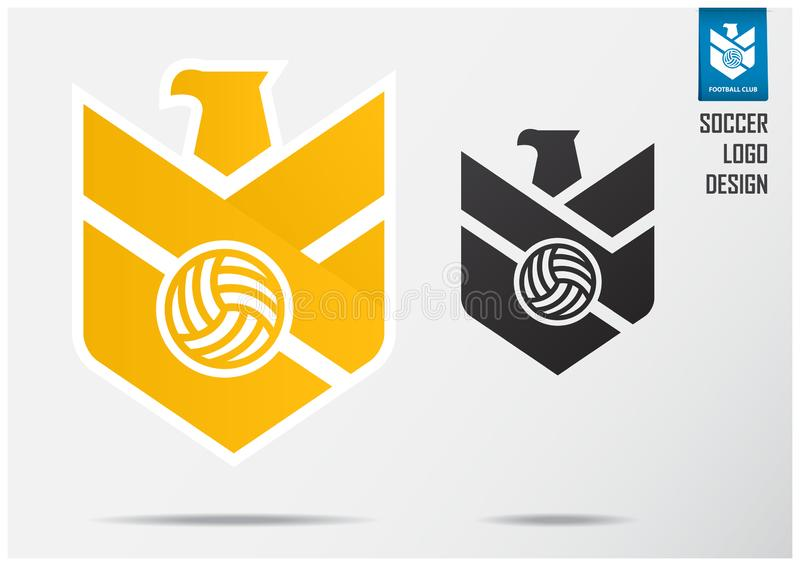 Logotipo del f?tbol o dise?o de la plantilla de la insignia del f?tbol para el equipo de f?tbol Diseño del emblema del deporte de libre illustration