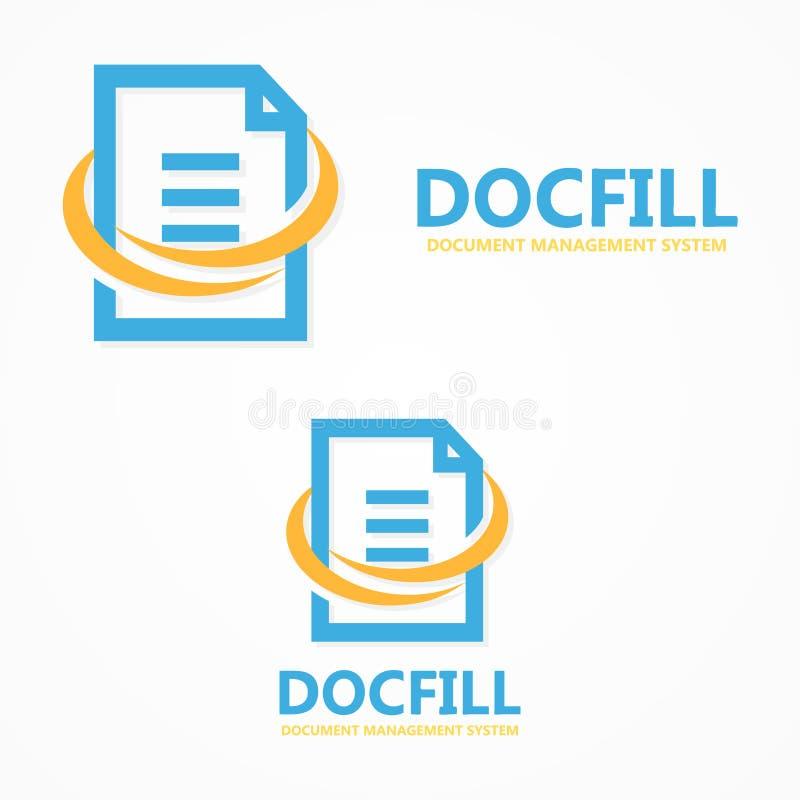 Logotipo del fichero de documento del vector libre illustration