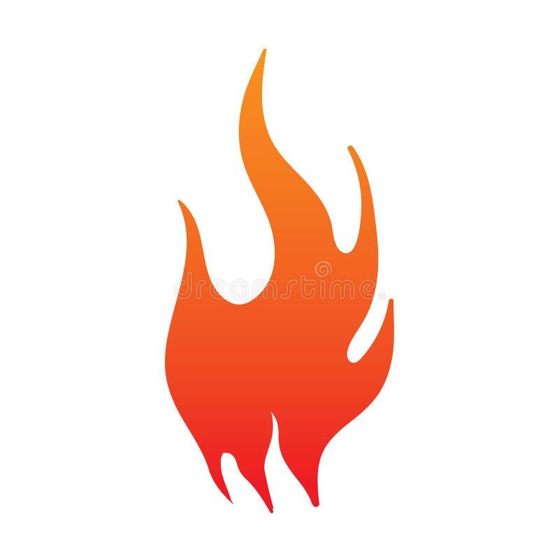 logotipo del fuego Fuego rojo, amarillo - ejemplo del vector ilustración del vector