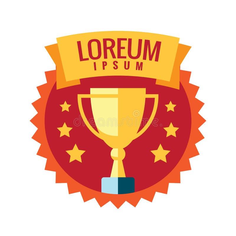 Logotipo del ganador de la taza emblema ilustración del vector