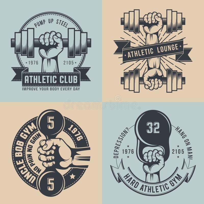 Logotipo del gimnasio libre illustration