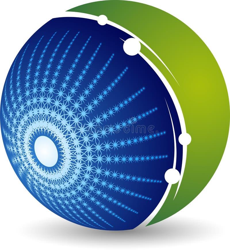 Logotipo del globo de la chispa stock de ilustración