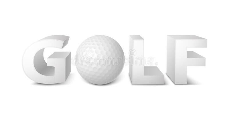 Logotipo del golf stock de ilustración