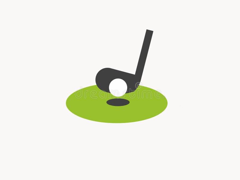 Logotipo del golf para cualquier uso stock de ilustración