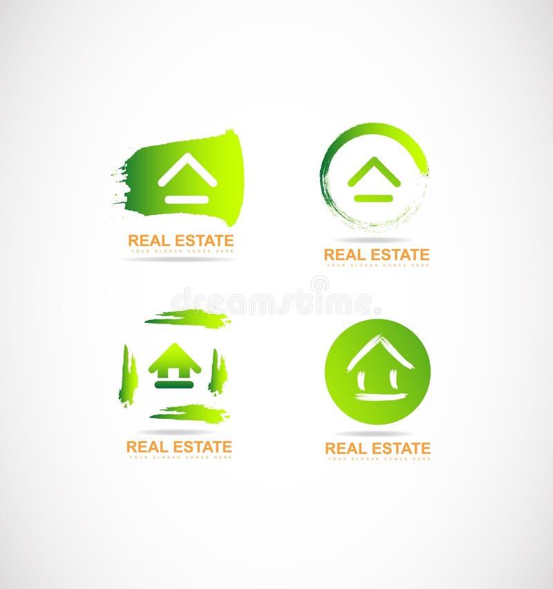 Logotipo del grunge de las propiedades inmobiliarias libre illustration