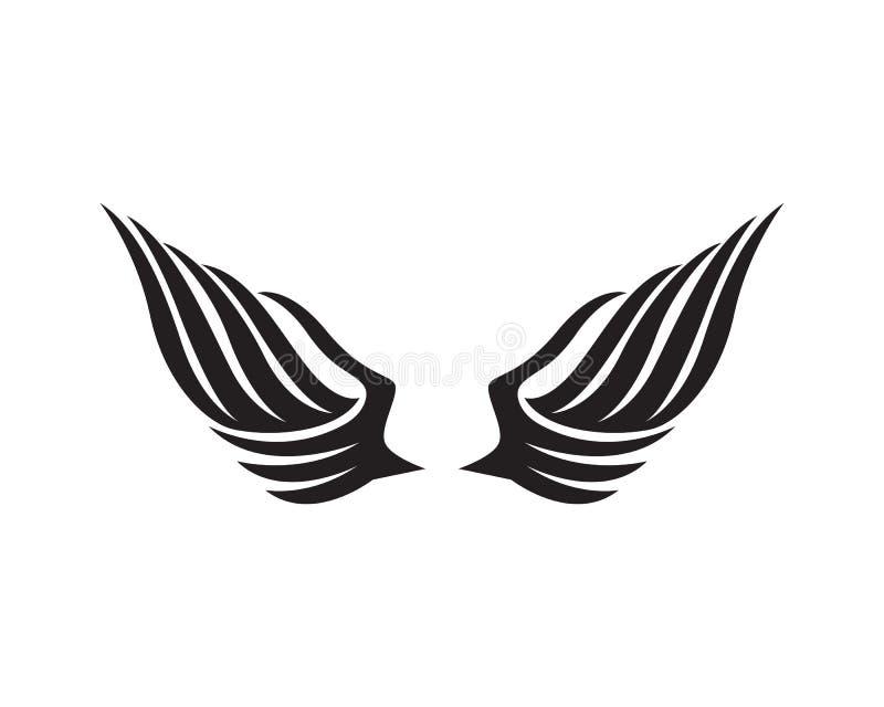 Logotipo del halcón del ala de Eagle y vector de la plantilla de los símbolos ilustración del vector