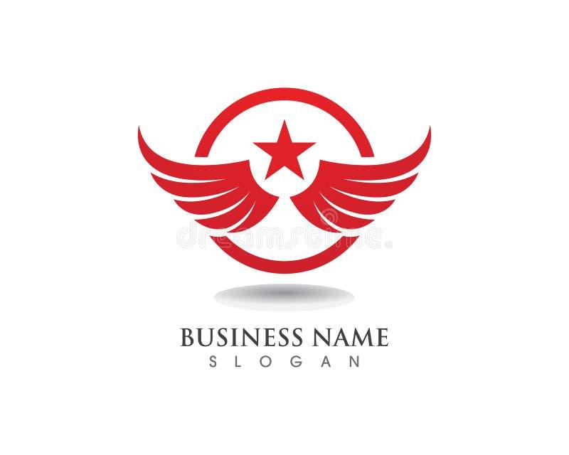 Logotipo del halcón del ala de Eagle y vector de la plantilla de los símbolos libre illustration