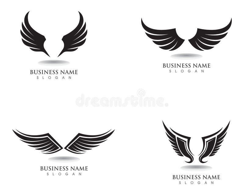 Logotipo del halcón del ala de Eagle y vector de la plantilla de los símbolos stock de ilustración