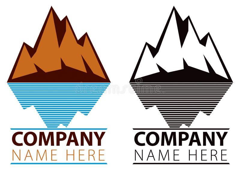 Logotipo del hielo de la montaña stock de ilustración