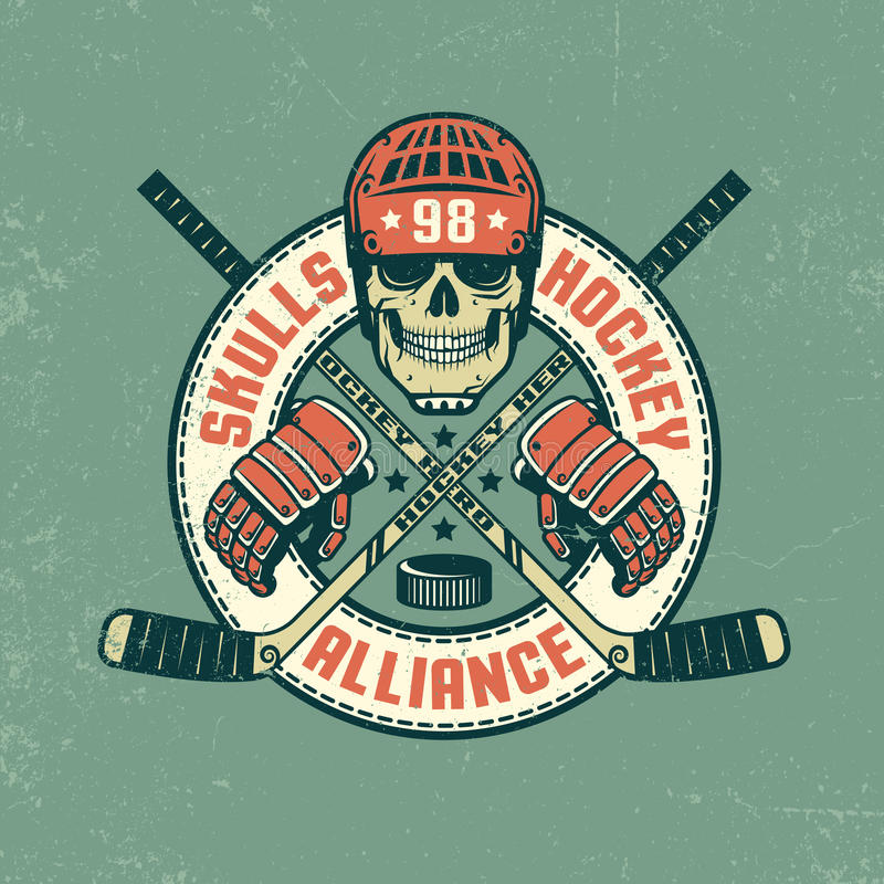 Logotipo del hockey ilustración del vector