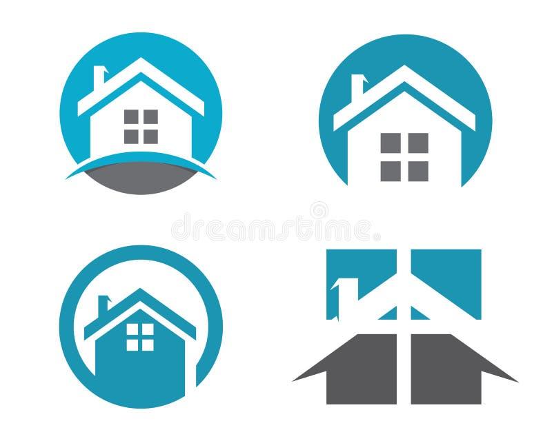 Logotipo del hogar y del edificio ilustración del vector