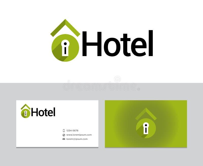Logotipo del hotel ilustración del vector