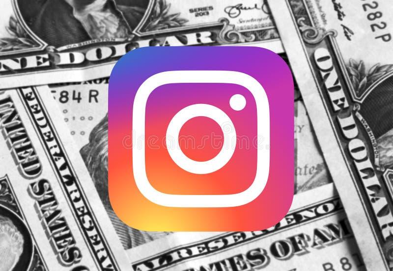 Logotipo del icono de Instagram fotos de archivo