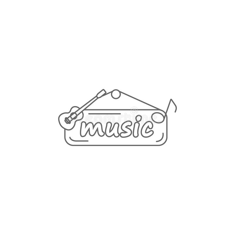 Logotipo del icono de la música Ejemplo simple del elemento Logotipo de la plantilla del diseño del símbolo de música Puede ser u libre illustration