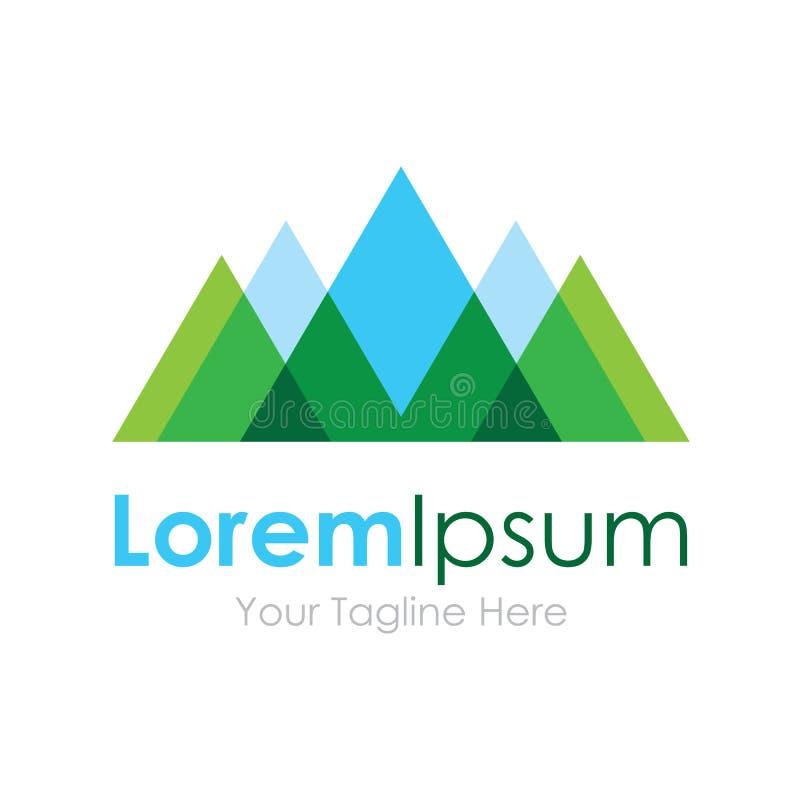 Logotipo del icono del elemento de la opinión del paisaje del eco de la naturaleza de la montaña para el negocio ilustración del vector