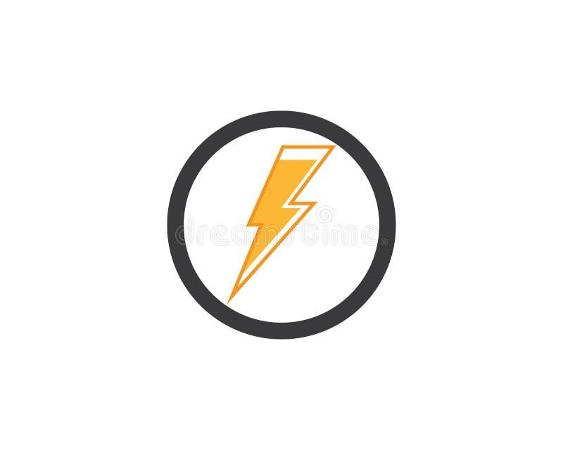 logotipo del icono del rel?mpago y vector de la plantilla de los s?mbolos stock de ilustración
