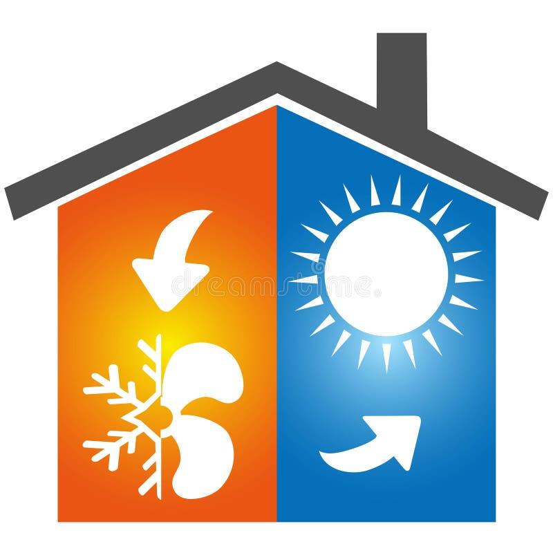 Logotipo del icono del símbolo del aire acondicionado libre illustration