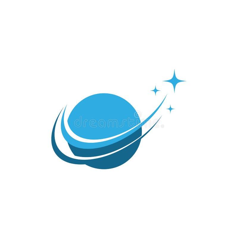 Logotipo del ilustration del mundo y de la estrella ilustración del vector
